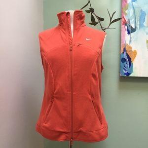 NikeFit THERMA Fleece Running Vest in Orange